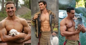 Some Australian Firefighters Posed With Animals For Charity, And These Hot Photos May Start Fires