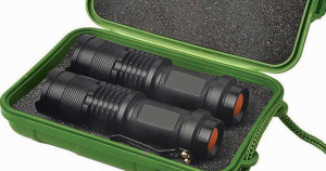 Light Up Your Adventure With The UltraBright 500-Lumen Tactical Military Flashlight: 2-Pack