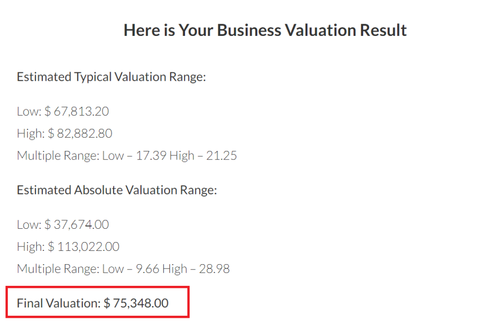 empireflippers valuation