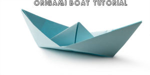 Learn How To Make An Origami Boat In A Few Easy Steps!