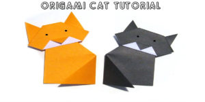 Origami Cat: Simple Steps to Make a Cute Origami Cat!